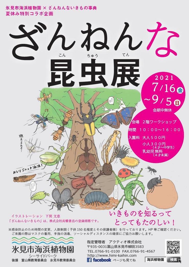 【7/16~9/5】ざんねんな昆虫展 in 氷見市海浜植物園